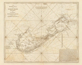 1787 Map of Bermuda