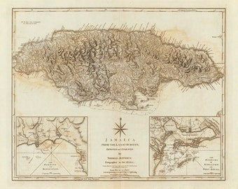 1775 Map of Jamaica