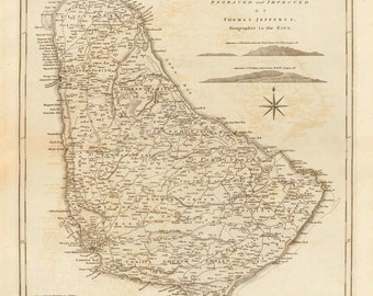 1775 Map of Barbados