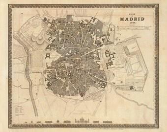 1844 Map of Madrid