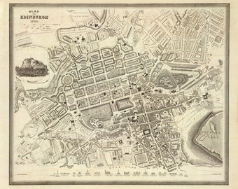 1844 Map of Edinburgh