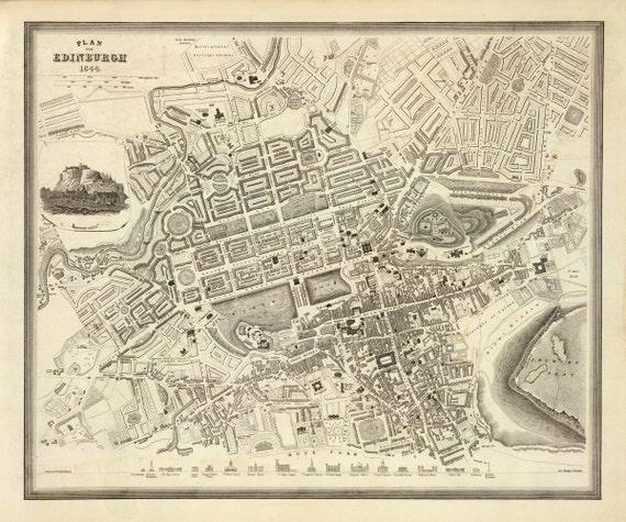 1844 Map of Edinburgh