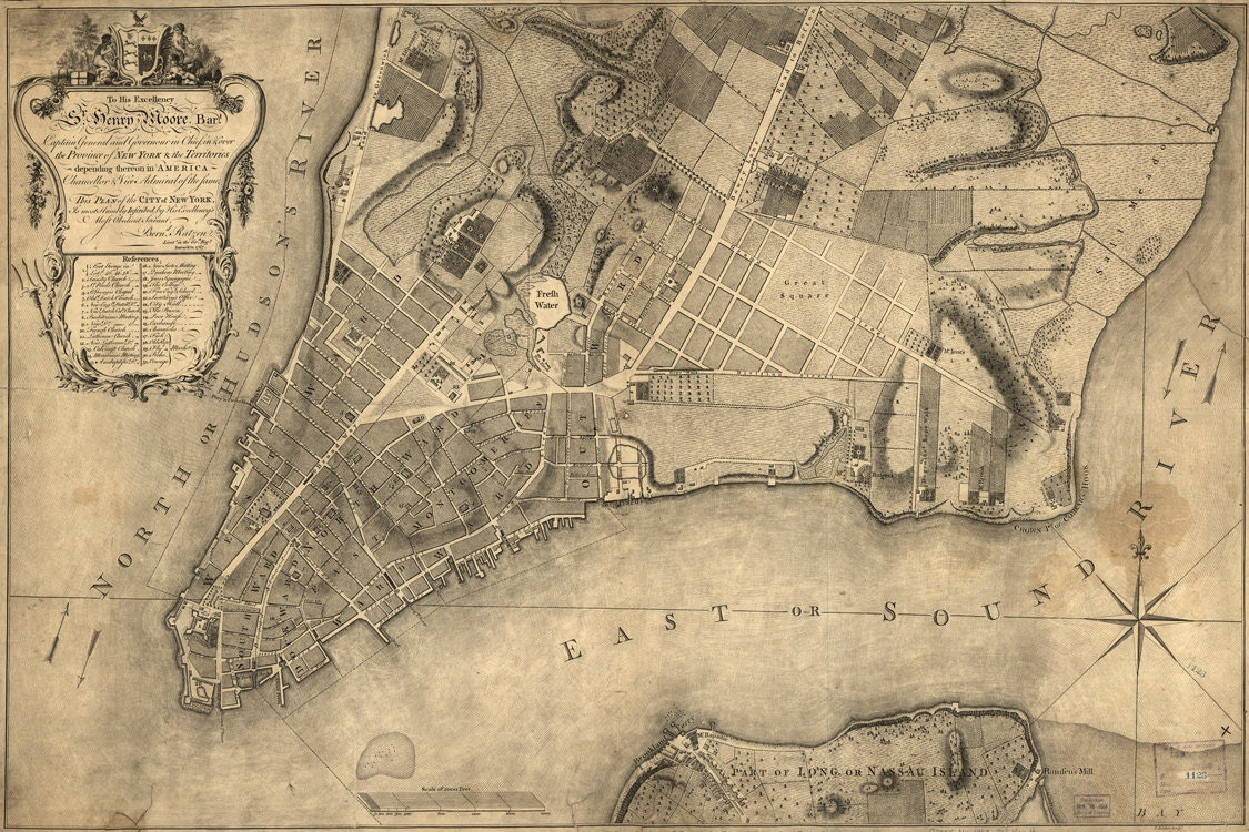 1776 Map Of New York City