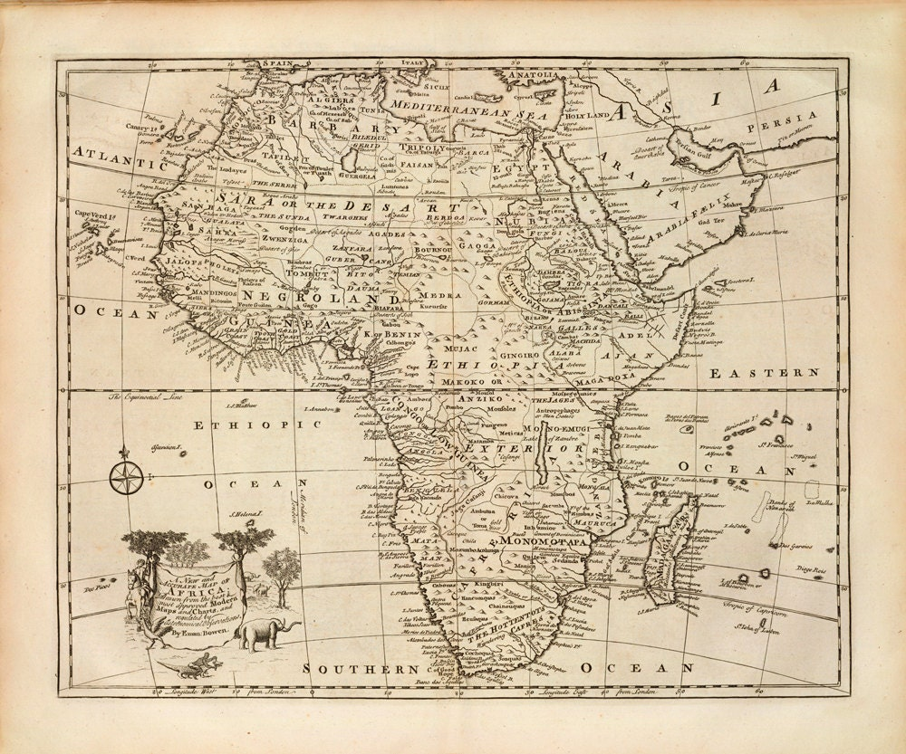 1747 Map of Africa