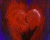 PRINT Red Heart ACEO