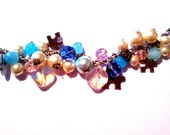 Autism Awareness Rainbow Quartz Charm Bracelet