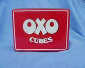 Vintage OXO Tin from Brooke Bond OXO Ltd England for 48 beef stock cubes