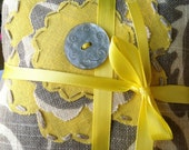 Lovely Lavender Sachets Grey and Yellow - Free Shipping & Gift Wrap