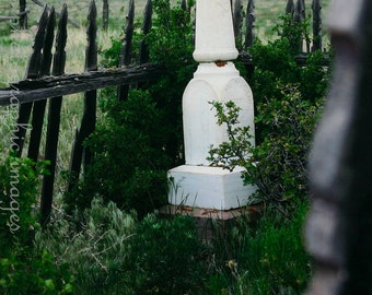 Forgotten  -  Old High Plains Cemetary Monument Fine Art Photography Print