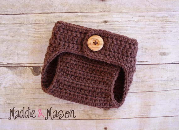 Chocolate Brown Diaper Cover - Newborn