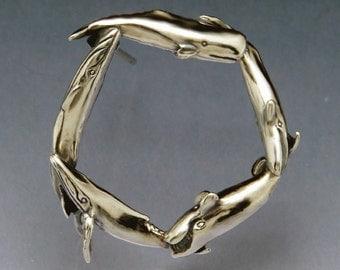 Whale Circle Pin