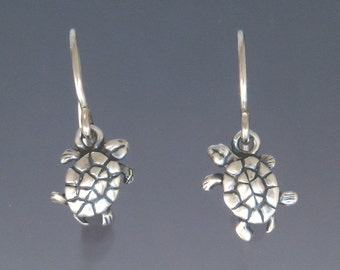 Tiny Turtle Earrings