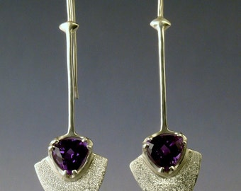 Guitar Pick Earrings with Iolite