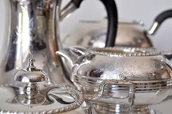 Antique Silver Coffee and Tea Silver Service 5 piece England