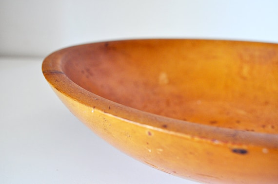 Vintage Primitive Wood Dough Bowl