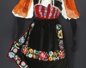 Complete Slovak Folk Costume from Detva embroidery blouse apron skirt ethnic KROJ