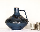Vintage Blue Grey Ceramic Pitcher -Free Shipping