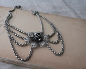RESERVED Vintage 1960s Silver Ornate Victorian Necklace II