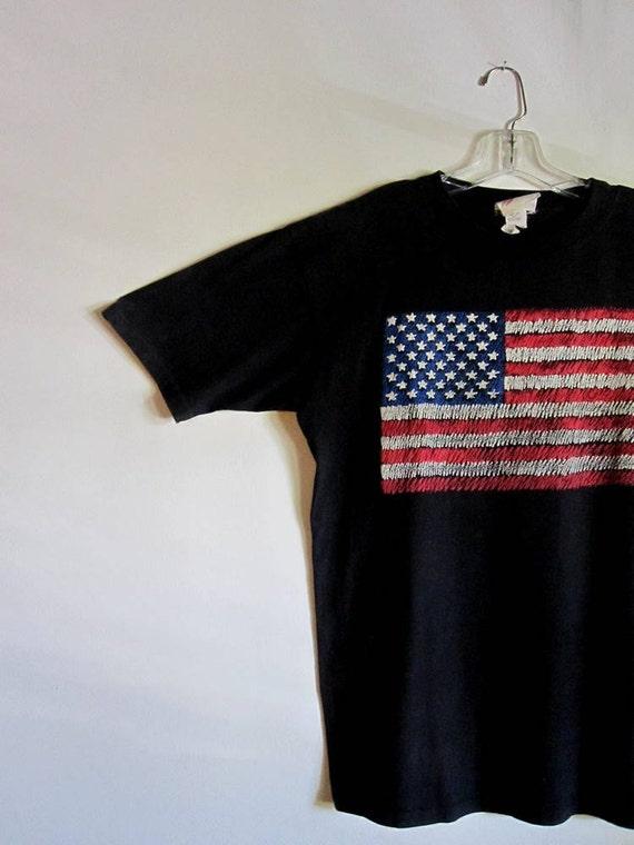 Vintage American Flag Tee Shirt