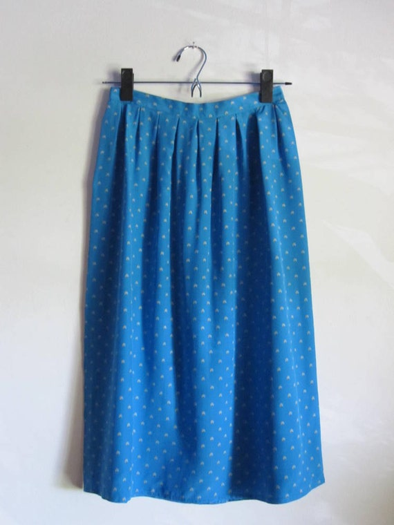 S A L E // Vintage Cerulean Abstract Pattern Skirt