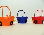 Reserved for designerstacey- Car Cupcake Wrappers - Pick Your Colours- set of 24