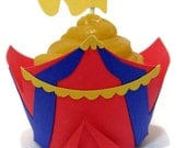 Cupcake Wrappers AND Toppers CIRCUS- set of 24