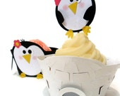 Cupcake Wrappers AND Toppers Penguin and Igloo -Set of 12
