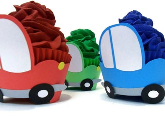 Firetruck Cupcake Wrappers Set Of 12 By Cakeadoodledoo On Etsy