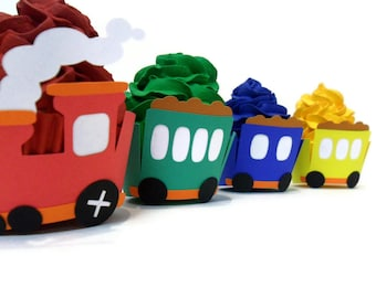Train Cupcake Wrappers - Set of 12