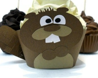 Beaver Cupcake Wrappers - Set of 12