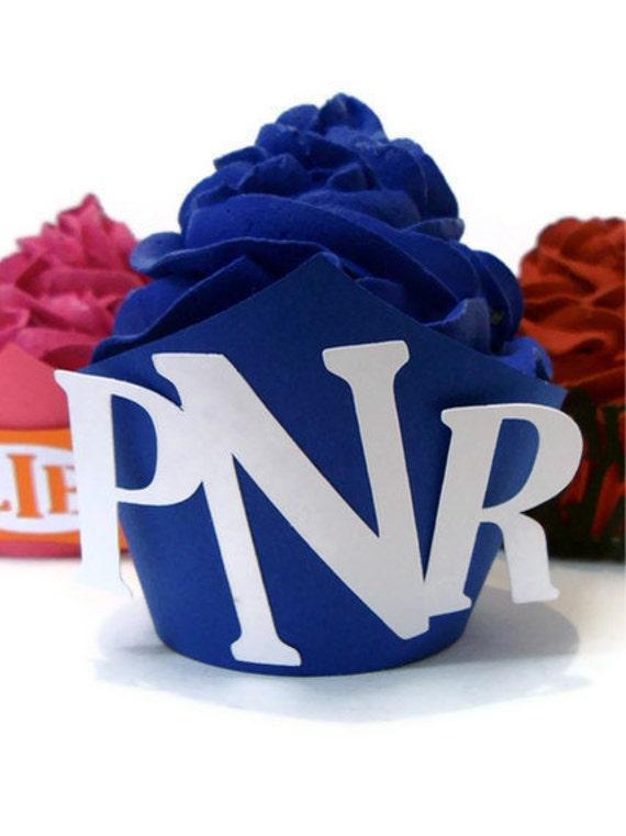 Monogram Cupcake Wrapper Letter -  set of 12