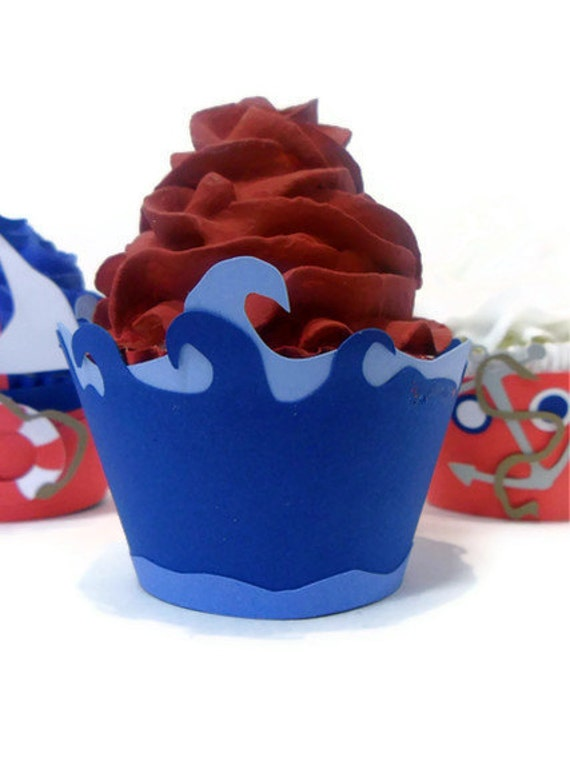 waves cupcake wrapper