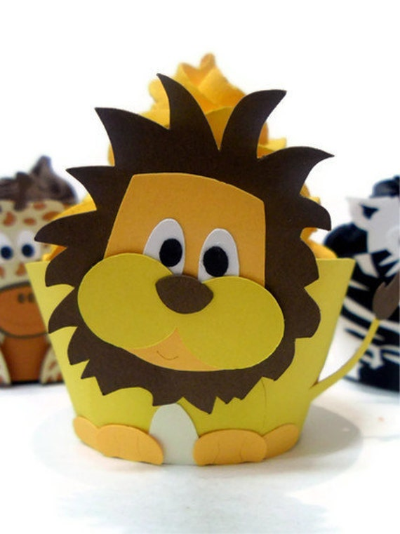 Lion Cupcake wrappers - set of 12