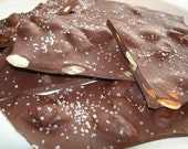 Dark Chocolate Candy Almond Bark- Melts-in-your-mouth- 1 lb. Box