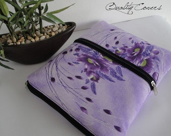 Customizable laptop sleeve / laptop cover / laptop case / ipad case - PADDED - WATERPROOF lining - extra large POCKET - 2 Zippers