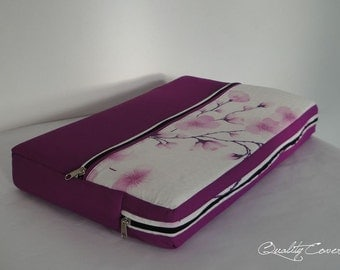 Customizable Laptop for Color fabrics and Size/ Laptop cover / Laptop sleeve / PADDED - WATERPROOF lining - 2 Zippers / extra POCKET