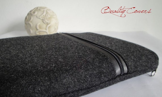 ipad 4 ipad 3 ipad 2 cover - sleeve - case / SUPER PADDED (1/3 inch) - WOOL Cashmir 2 mm - Waterproof lining - 2 zippers - extraPOCKET