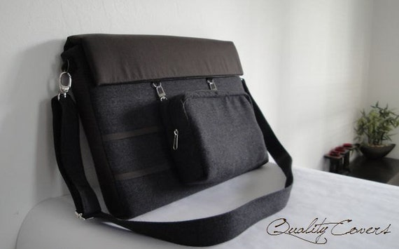 Customizable for Color Fabric and Size Laptop bag- Messenger bag and Detachable WALLET Padded- Shoulder bag-fully PADDED- WATERPROOF lining