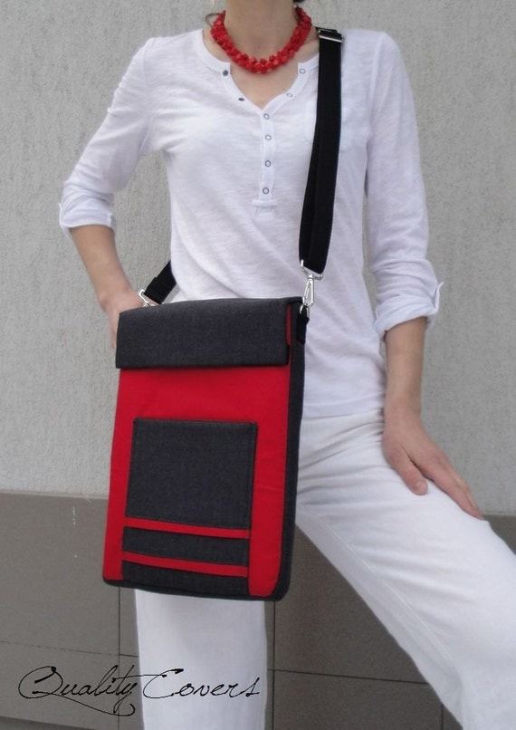 Customizable / Messenger bag / Laptop bag - FULLY padded / 2 POCKETs - customizable as Colors or/and Sizes
