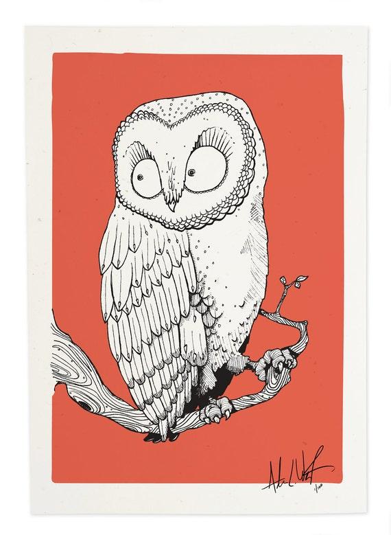 Salmon Owl, Gicleé Print