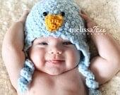 Newborn blue bird hat for spring photos