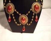 Wedding Necklace, Vintage Necklace, Medieval Necklace,  Renaissance Necklace, Retro Necklace