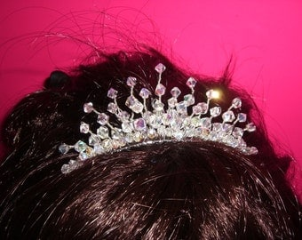 Wedding Tiara, Bridal Tiara, Crystal Tiara, Princess Tiara, Tiara Bridal Comb, Tiara Crystal Bridal
