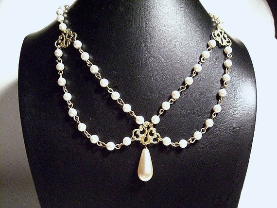 RESERVED for Claire Wedding Necklace, Pearl Drop earring