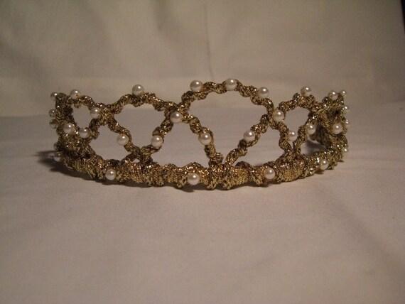Wedding Tiara, Medieval Headpiece, Bridal Tiara, Renaissance Inspired Headpiece