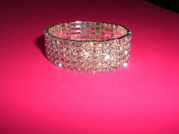 Wedding Bracelet Rhinestone , Jewelry, Bracelet Art Deco Inspired Crystal Rhinestones