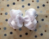 All White Layered Boutique Hair Bow