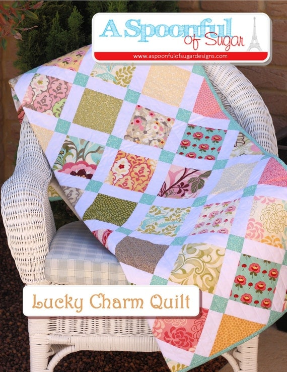 Lucky Charm Quilt PDF Sewing Pattern
