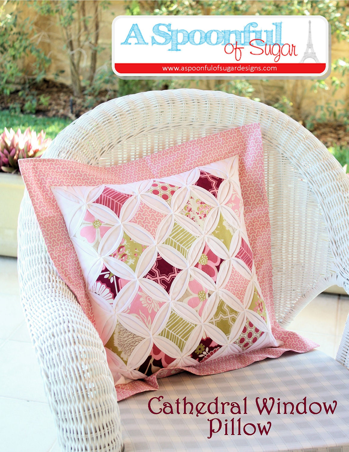 Cathedral Window Pillow Pdf Sewing Pattern From