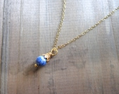 lapis lazuli 22 karat Bali Vermeil pendant necklace